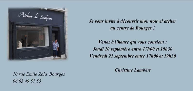 atelier de sculpture Bourges rue mile Zola