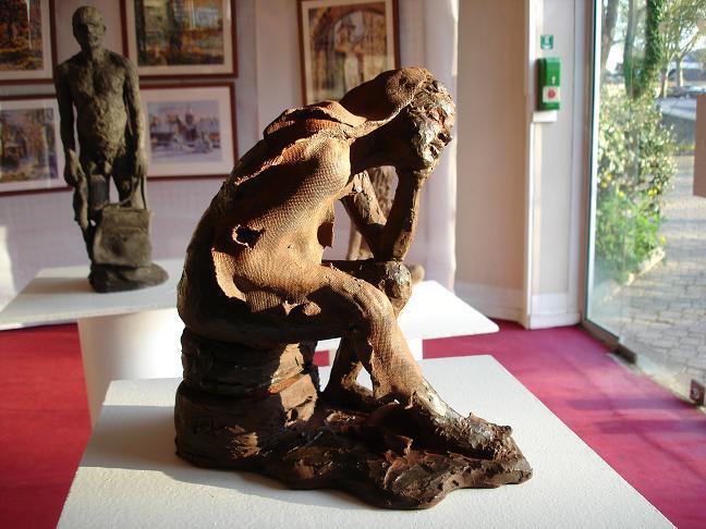 sculpture nu terre cuite patinée
