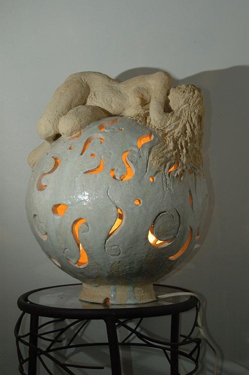 sculpture nu terre cuite