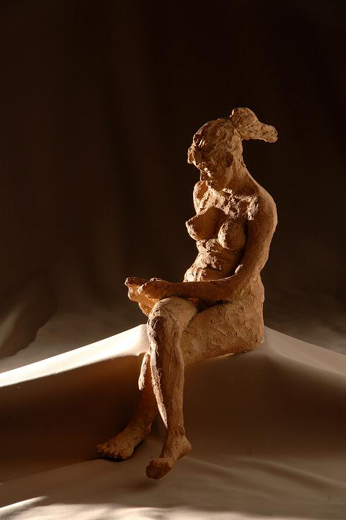 christine lambert sculpture grace terre cuite