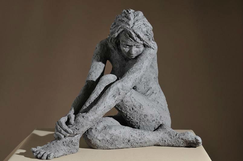 sculpture femme noire - série zen