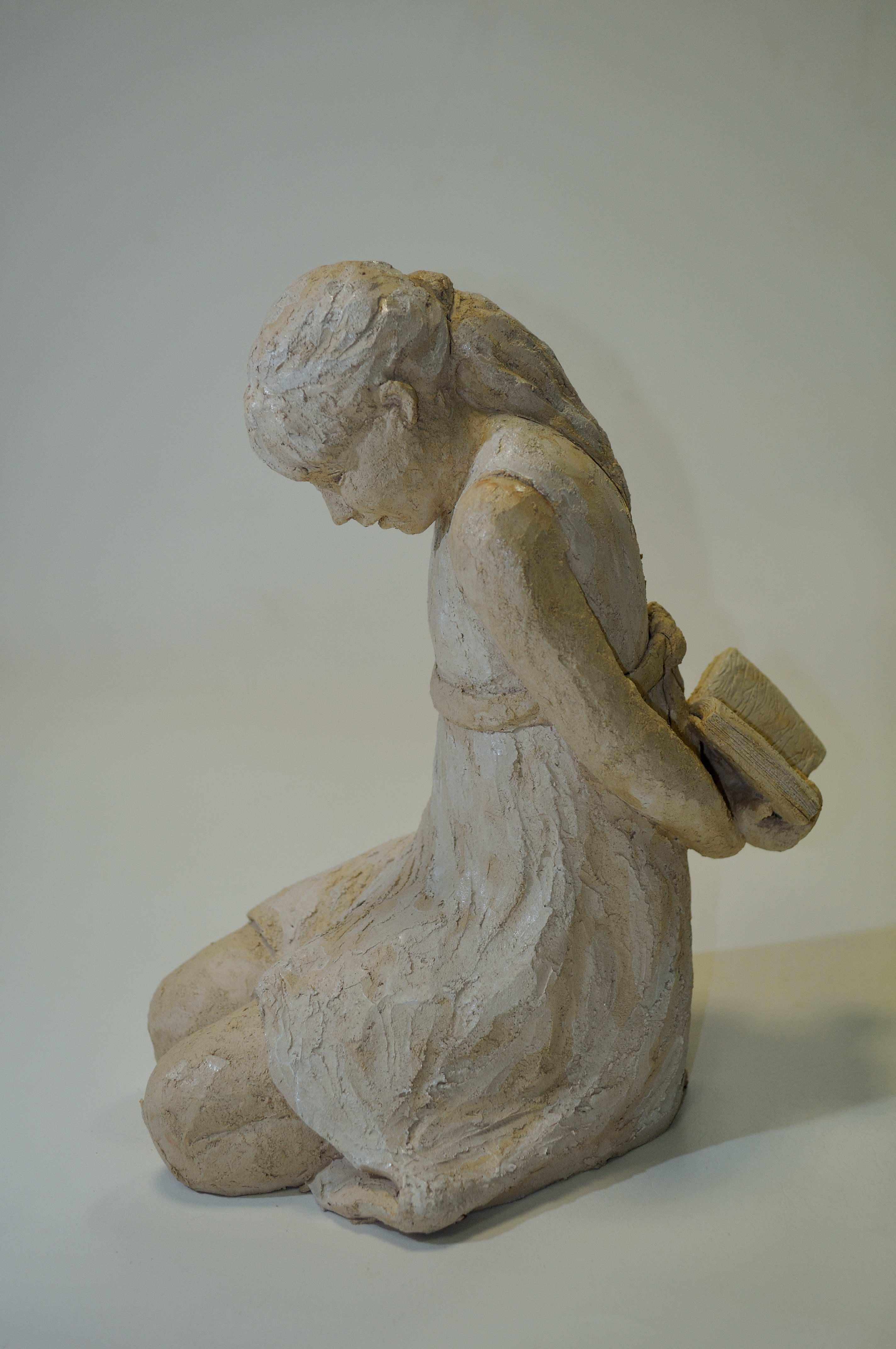 sculpture fillette terre cuite petite fille sculpture