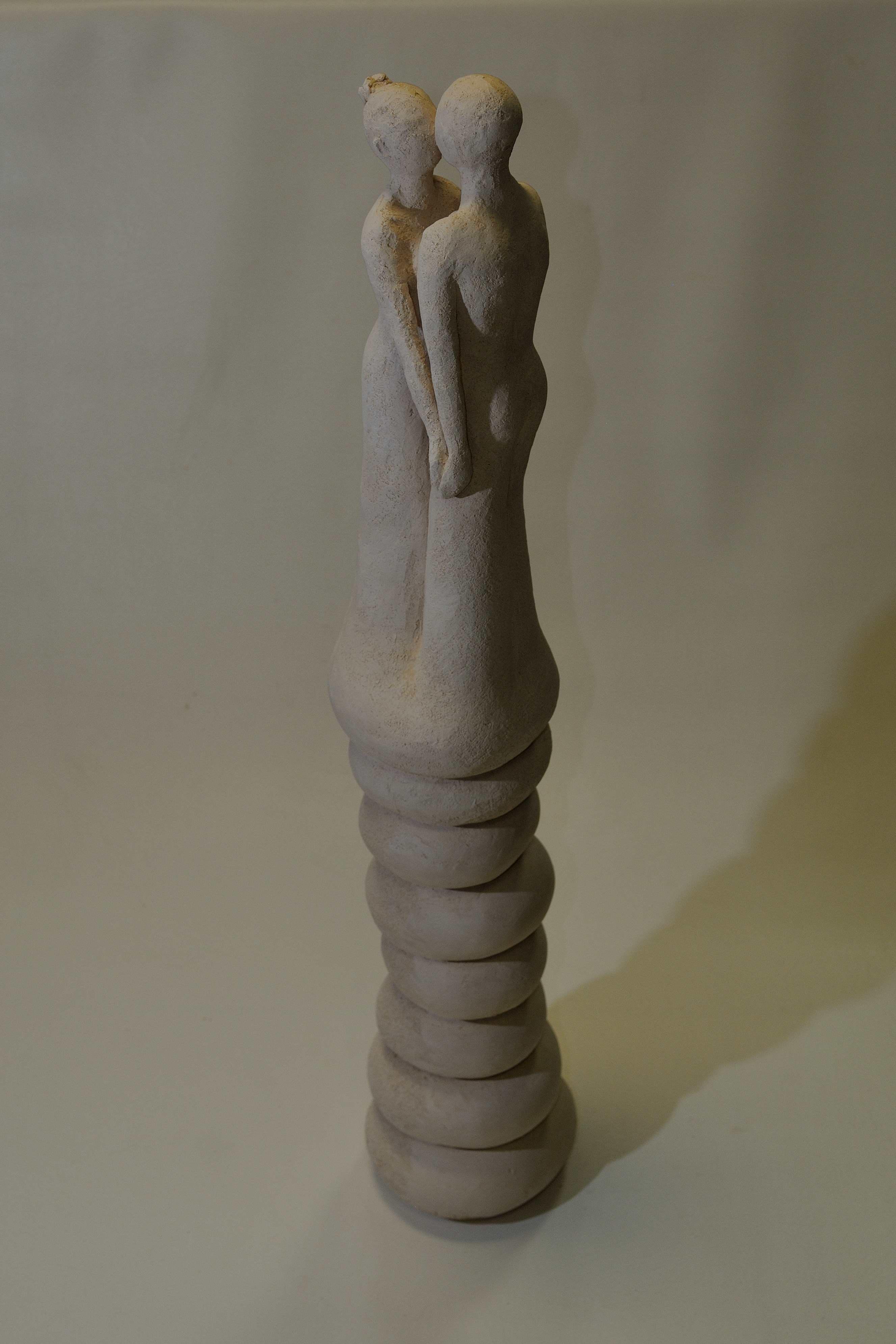 sculpture couple terre cuite