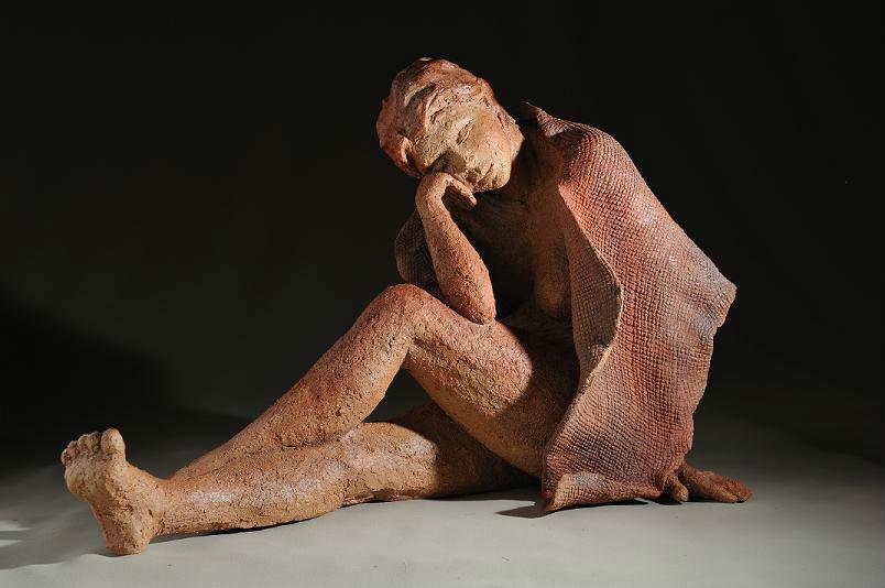 sculpture femme zen - femme douce sculpture