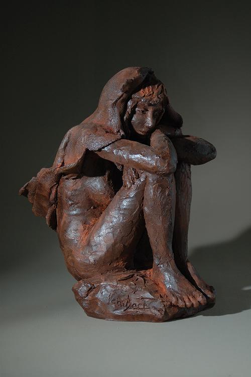 sculpture nu feminin voile