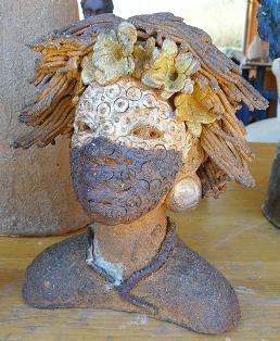 sculpture tête africaine