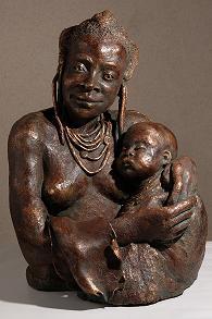 sculpture vierge africaine