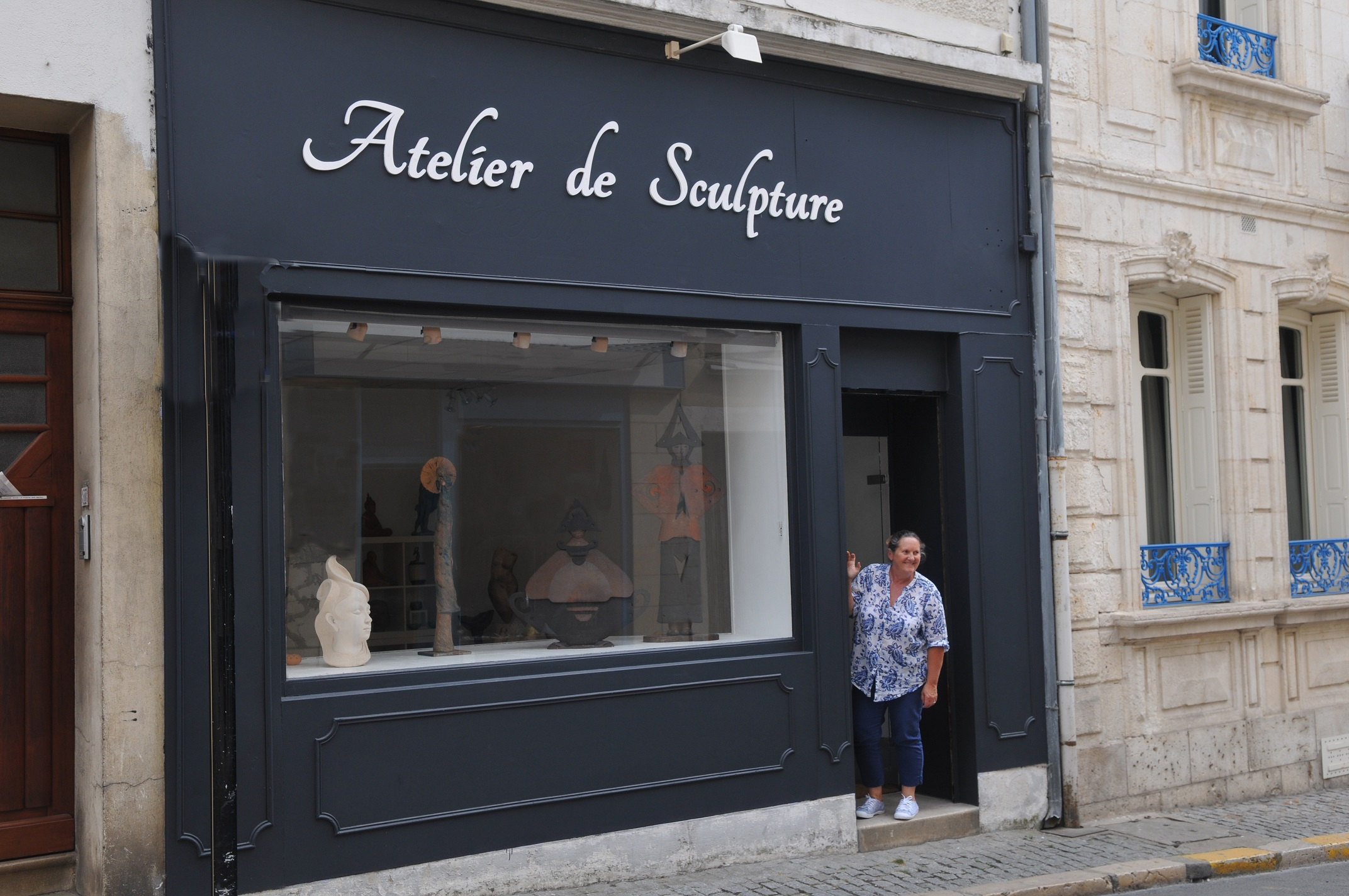 Bourges atelier Zola sculpture Marianne Berrichonne Cher